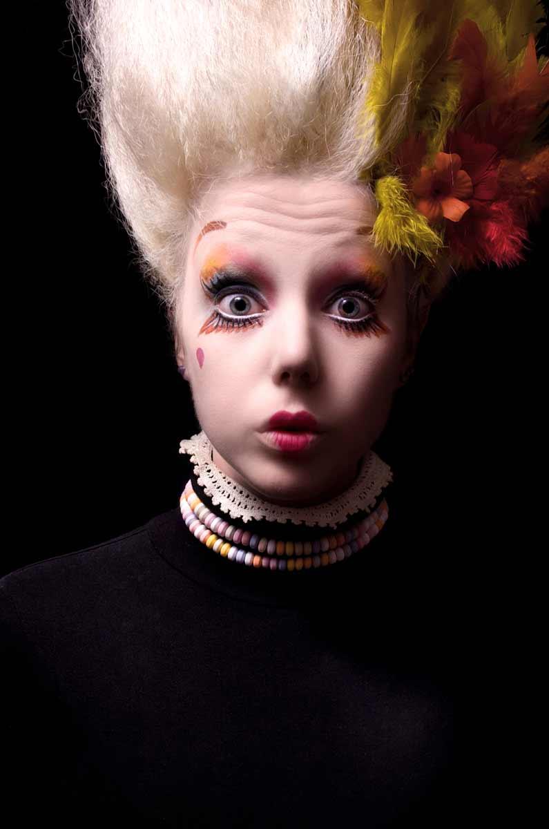 Candy Queen, portrait de la reine des bonbons, maquillage réalisé par Alexia Pasquet © Kevin Amiel