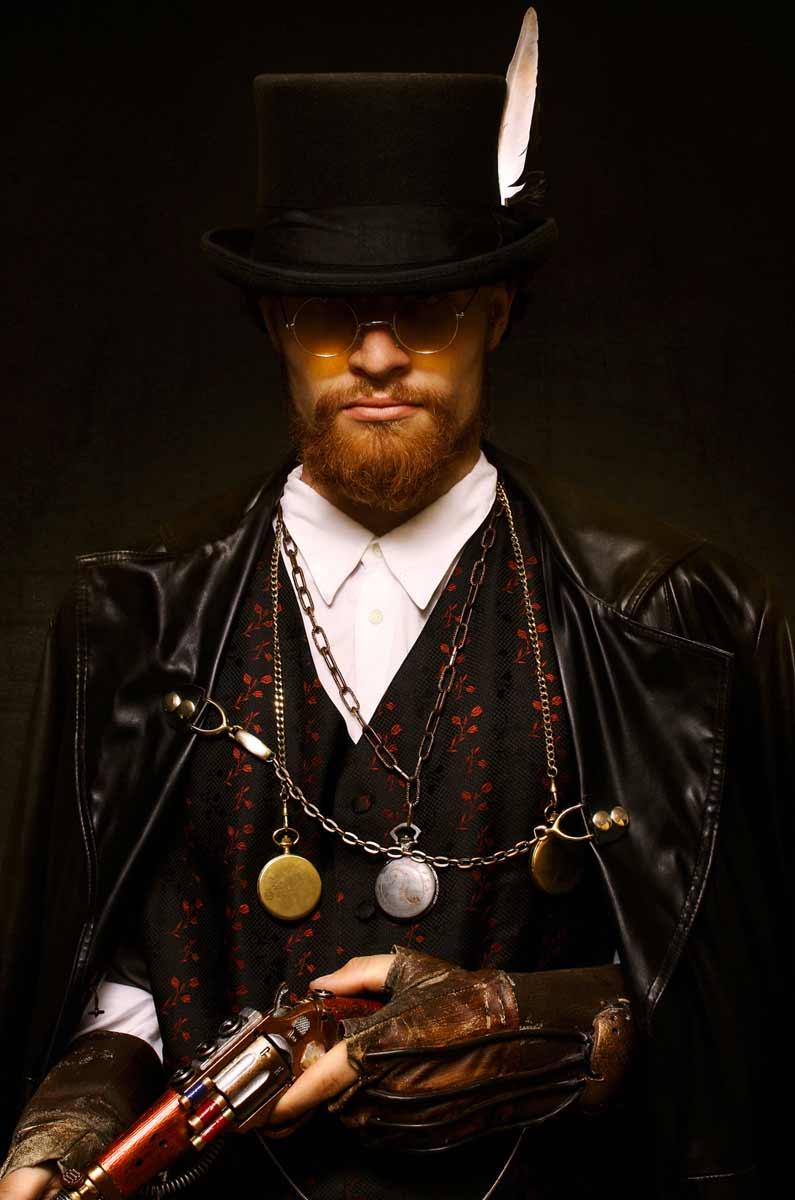 Portrait de Benjamin Tatard, en style steampunk © Kevin Amiel