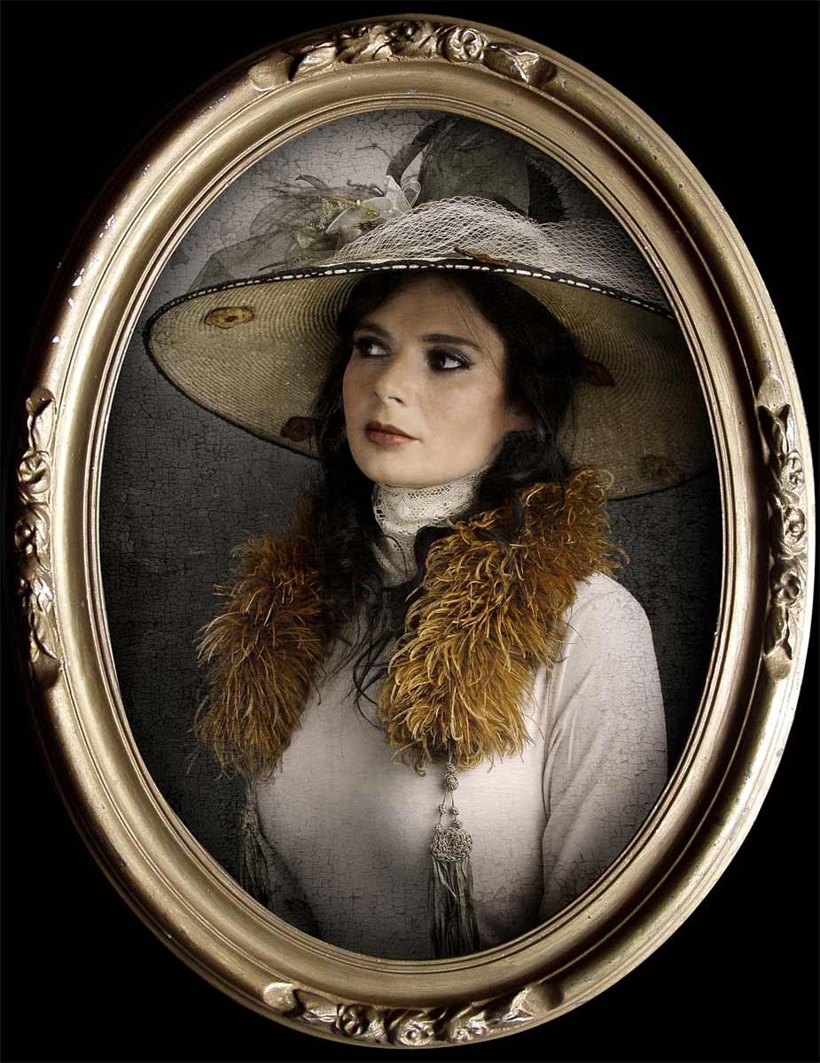 Portrait d'Angèle, inspiré par Adèle Blanc-Sec © Kevin Amiel