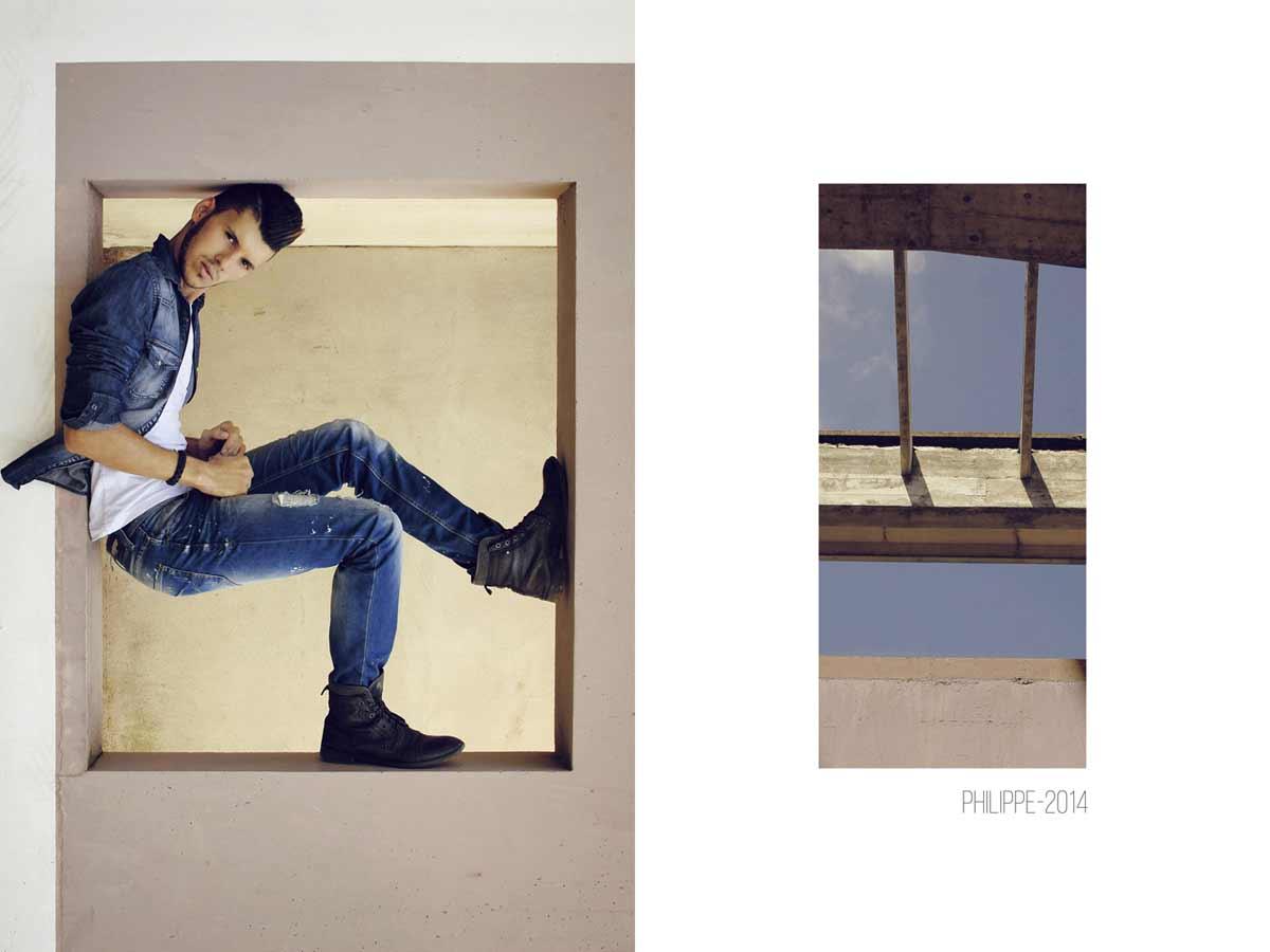 Portrait mode de philippe en jean's réalisé à Lyon © Kevin Amiel